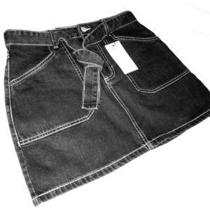 Dark Washed, Denim-Tie Jean Skirt 🌪